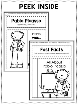 Interactive Notebook - Pablo Picasso Activities