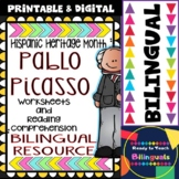 Hispanic Heritage Month - Pablo Picasso - Worksheets and Readings (Bilingual)