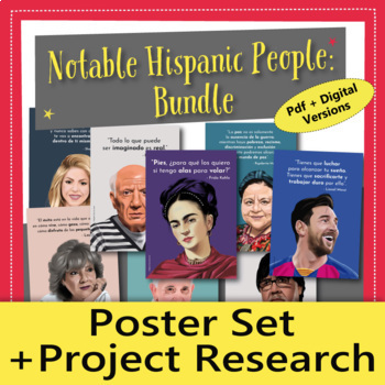 Hispanic Heritage Month Poster Set and Research Project