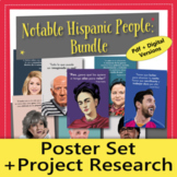 Notable Hispanic People Poster Set and Project Research BU