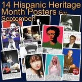 Hispanic Heritage Month Posters! 14 Posters of Diverse His