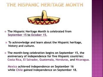 Hispanic Heritage Month PowerPoint