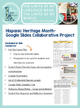 Hispanic Heritage Month Project (Collaborative Google Slides Group Project)