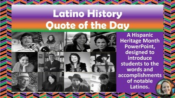 Hispanic Heritage Month Quote of the Day