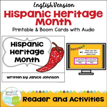 Hispanic Heritage Month Reader and Comprehension Questions {ENGLISH VERSION}