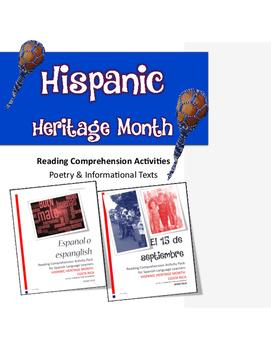 Hispanic Heritage Month Reading Comprehension Activities (
