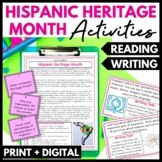 Hispanic Heritage Month Reading and Writing Activities