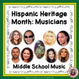 Hispanic Heritage Month  - Research Musicians and Music Li