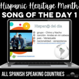 Hispanic Heritage Month: Song of the day #1 - 1 from each