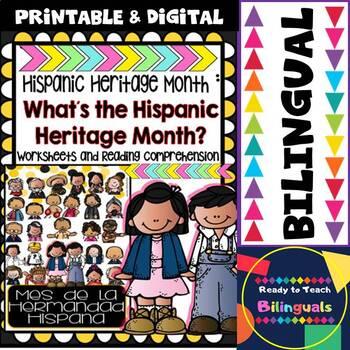 Hispanic Heritage Month - Worksheets and Readings (Bilingual)