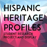 Hispanic Heritage Profiles: Worksheets & Display