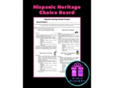 Hispanic Heritage: Project Choice Board (Differentiated Instruction)