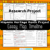 Hispanic Heritage Month Project:  Essay, Map, and Timeline