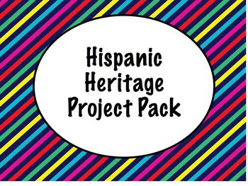 Hispanic Heritage Project Pack for Spanish Class- Info she