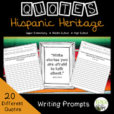 Hispanic Heritage Quotes  |  Writing Prompts  |  Analyze Quotes