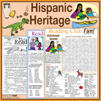 Hispanic Heritage Set - Two-Page Activity Set and Two Word Search Puzzles