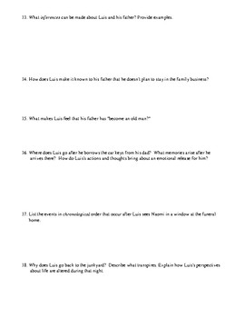 Judith Ortiz Cofer: Three Short Story Worksheets/Tests with Detailed Answer Keys