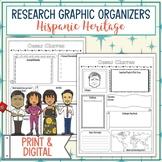 Hispanic Heritage and Latino Leaders Biography Research Graphic Organizer Bundle