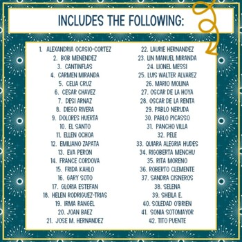 Hispanic Heritage and Latino Leaders Biography Trifold Brochures
