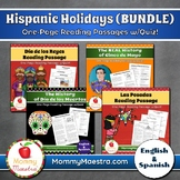 Hispanic Holidays 1-Page Reading Passages (BUNDLE)