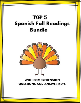 Fall Holidays Spanish Reading Bundle at 25% OFF! 3 Lecturas