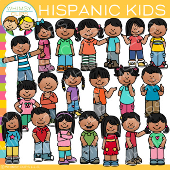 Hispanic Kids Clip Art