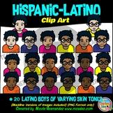 Hispanic Latino BOYS Heads & Shoulders Clip Art Set for Teachers