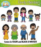 Hispanic / Latino Family Characters Clipart {Zip-A-Dee-Doo-Dah Designs}