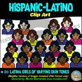 Hispanic Latino GIRLS Heads & Shoulders Clip Art Set for Teachers
