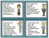 Hispanic Leaders Spanish Character Cards: Hispanos Famosos