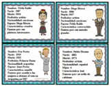 Hispanic Leaders Spanish Character Cards: Hispanos Famosos