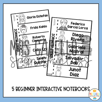 Hispanic Leaders Interactive Notebook in Spanish