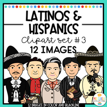 Hispanic Leaders , Personalities and Influencers Clipart Set 3