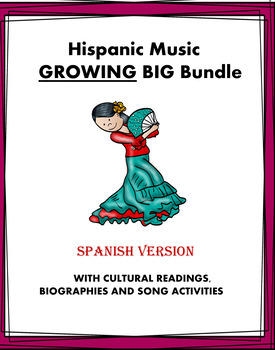 Hispanic Music MEGA Bundle: 19 Resources @50% off! (SUB PLAN)