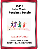 Hispanic Music Reading Bundle: 5 Readings @35% off! (English Version)