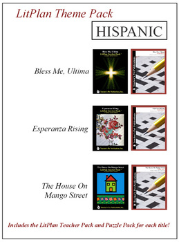 Hispanic Novel Unit Theme Pack Bundle