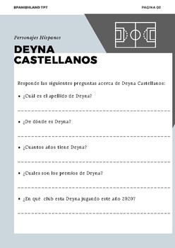 Hispanic People | Soccer Player Deyna Castellanos | Spanish Reading Passage