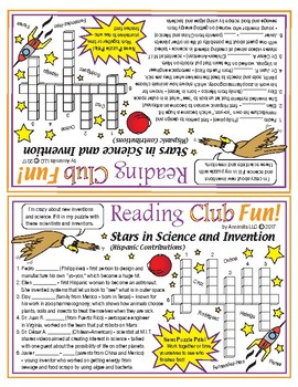 Hispanic Stars in Science and Invention Crossword Puzzle (Puzzle Pals)