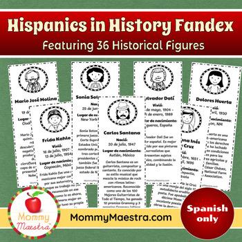 Hispanic in History Fandex (Spanish edition)