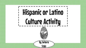 Hispanic or Latino video activity/discussion