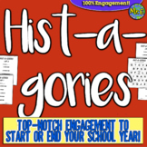 Back to School Hist-A-Gories game! First Day of School game for Social Studies!