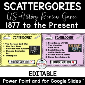 Histagories - US History (1877 - Present)  Review Game!