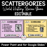 WORLD HISTORY Review Game:  Histagories EDITABLE