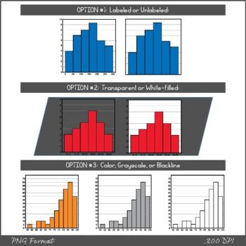 Histogram Graphs - Clipart
