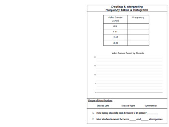 Histogram Notes for Interactive Notebook