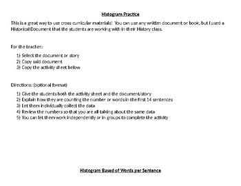 Histogram Practice - Words per Sentence