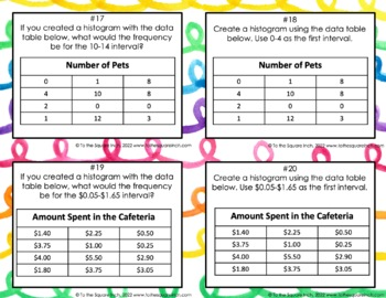 Histogram Task Cards