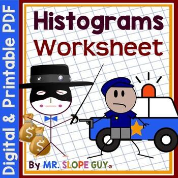 Histograms Create and Interpret Statistics Worksheet PDF MAFS.912.S-ID.1.1