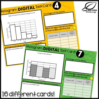Histograms DIGITAL Task Cards | Google Slides