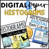 Histograms Graphing Task Cards | PAPER and DIGITAL BUNDLE